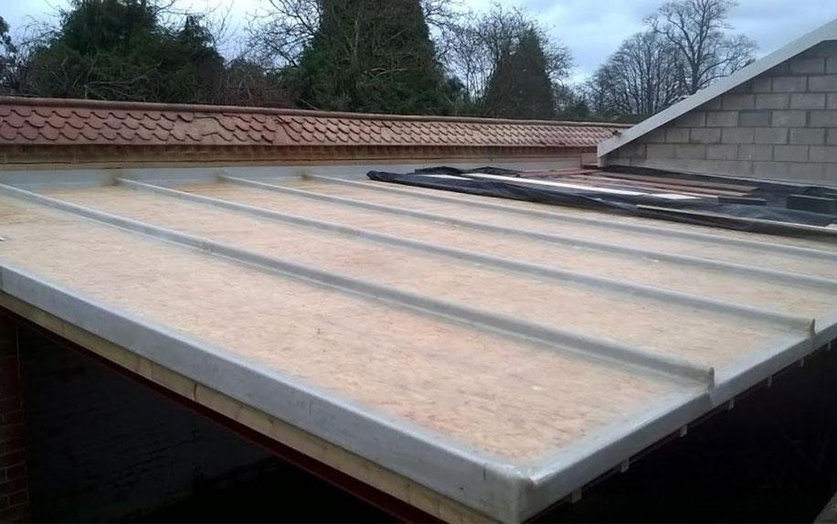How to fibreglass a roof: decking